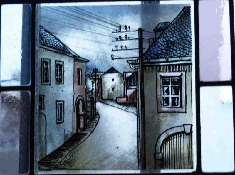 Fensterbild: Triererstrasse nach Trier
