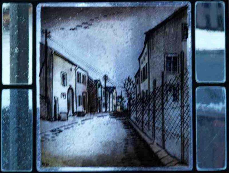 Fensterbild: Triererstrasse von Luxemburger Einfahrt