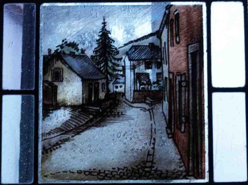 Fensterbild: Waldstrasse