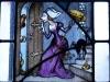 Fensterbild:  Der Zecher kommt nach Hause